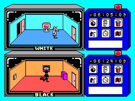 Sega SMS:Meka:Hi-Com:Spy vs Spy:SEGA of America, Inc.:First Star Software, Inc.:1986: