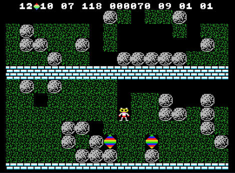 Colecovision ColEm:Boulder Dash:Micro Fun:First Star Software, Inc.:1984: