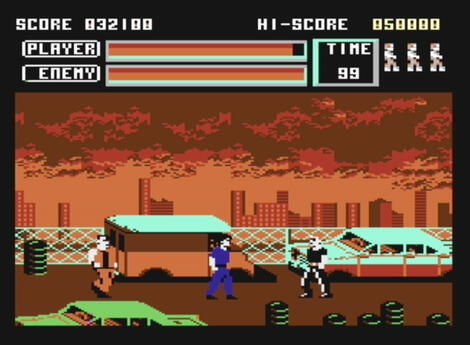 Commodore C64:Vice:Vigilante:U.S. Gold Ltd.:Irem Corp.:1989: