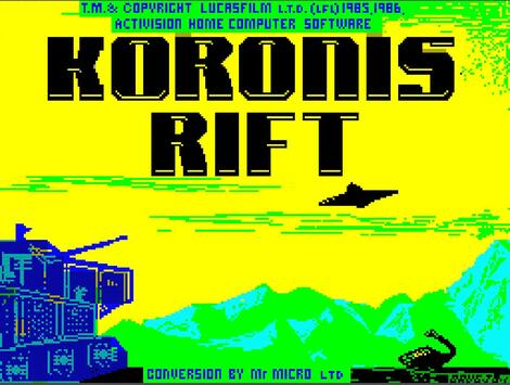 ZX Spectrum:Xpeccy:Windows:Koronis Rift:Activision, Inc.:Lucasfilm Games LLC:1987: