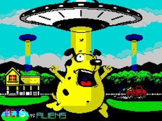 Retro - Pets vs Aliens Prologue (ZX Spectrum). BiFrost (Emar Saukas). Music Yerzmey: GFX BinMan, 2015