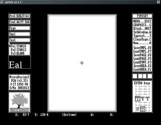 Joyce Amstrad PCW MicroDesign 3