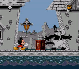 Snes9x Mickey Mania - The Timeless Adventures of Mickey Mouse