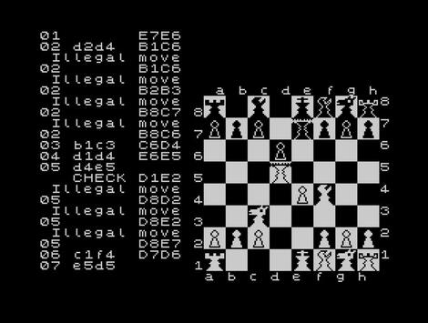 Jupiter ACE:ZX:SpudAce:Super Chess II:Cp Software:1983
