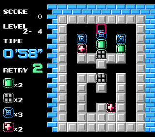 NES:Nintendo8:Famicon:FceUltraX:Puzznic:Taito:1990