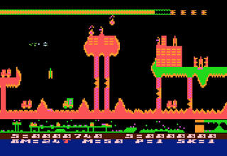 Atari:Altirra:8bit:Rainbow:Air Strike II:English Software:1983