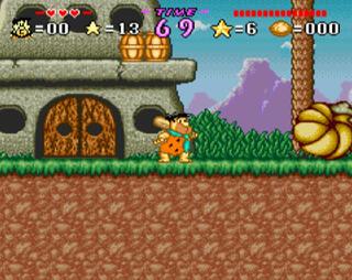 Snes:Super:Nintendo:Famicon:Snes9x:ReRecording:The Flinstones: The Treasure of Sierra Madrock:Hanna Barbera Prod. Inc:Taito:1994