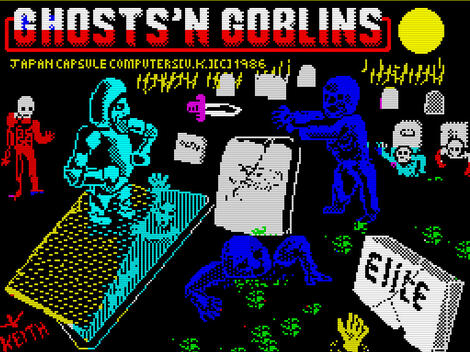 ZX:Spectrum:Z80:Stealth:Ghosts \'N Goblins (a.k.a. Ghosts & Goblins):Elite Systems Ltd.:Capcom Co., Ltd.:1986: