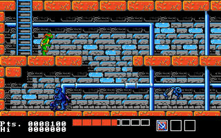 Amiga:Fs-UAE:Classic:A500:Teenage Mutant Ninja Turtles:Ultra Software Corporation:Konami Industry Co. Ltd.:1990: