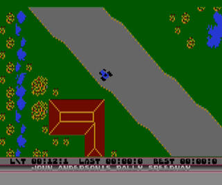 Atari:XE:XL:Altirra:John Anderson's Rally Speedway:Adventure International:Adventure International:1983: