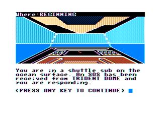 Tandy:Dragon:Xroar:aquanaut 471:Microdeal:1986