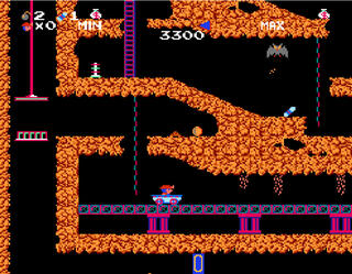Nes:Nintendo:Fce Ultra X:FCEUX:Spelunker:IremCorp.:MicroGraphicImage:07.12.1985: