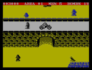 ZX:Spectrum:ZxMak:Commando:Elite Systems Ltd.:Capcom Co., Ltd.:1985: