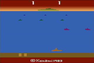 Atari:2600:VCS:Stella:Marine Wars:Konami Industry Co. Ltd.:Konami Industry Co. Ltd.:1983: