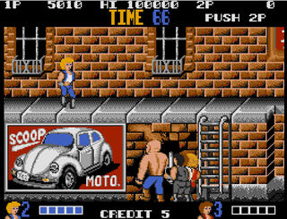Atari ST:Steem:Double Dragon:VirginGames,Inc.:TechnosJapanCorp.:1989: