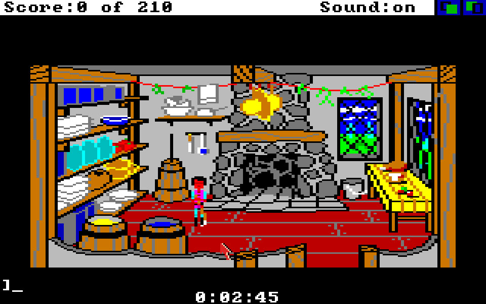 Amiga:TheCompany:King's Quest II: Romancing the Stones: